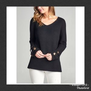 2 LEFT - Sweater With Lace Up Sleeves